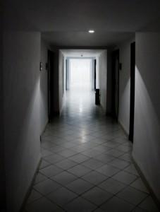 White doors and corridor