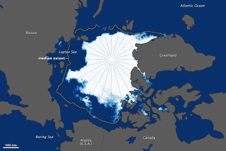 Climat : la banquise arctique atteint son quatrième point le plus bas