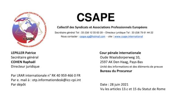 Covid : plainte déposée contre la France devant la Cour pénale internationale pour crime contre l'humanité, atteinte à la dignité humaine, servitude et génocide